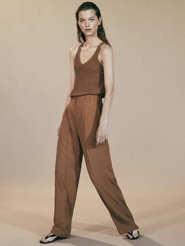 LIMITED EDITION PLAIN CREPE TROUSERS