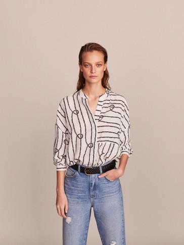 43edecc096da38 View all - Shirts   Blouses - COLLECTION - WOMEN - Massimo Dutti ...
