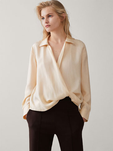 100% SILK WRAP BLOUSE