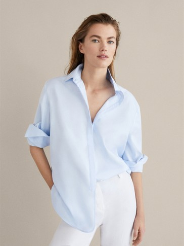 COTTON SHIRT WITH PLACKET