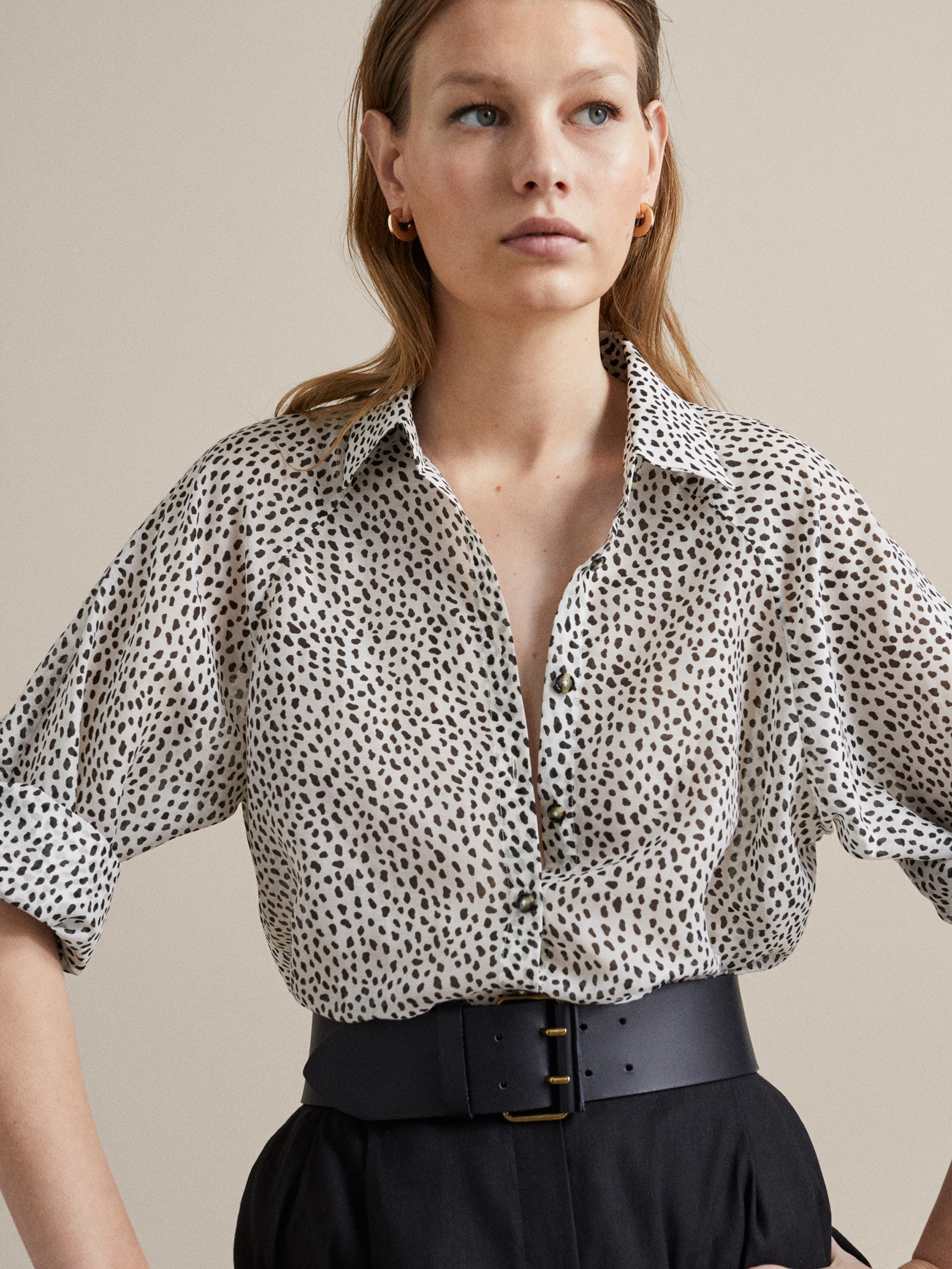 d4f06df40b774 Printed shirts - Shirts   Blouses - COLLECTION - WOMEN - Massimo Dutti