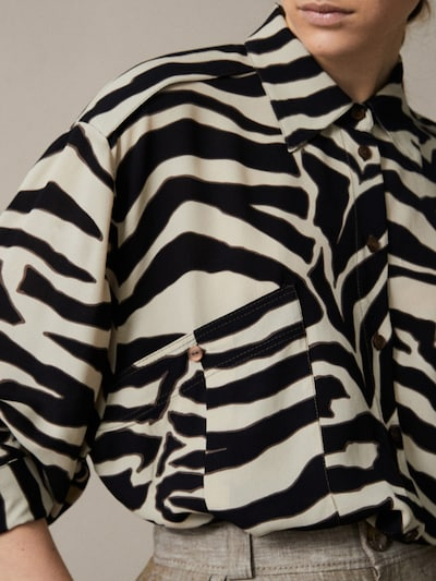 68436a2b2d79 ZEBRA PRINT COTTON SILK SHIRT