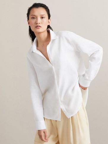 Camisa 100% Linho Lisa by Massimo Dutti