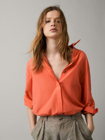 ffc3d85c4c1d54 View all - Shirts   Blouses - COLLECTION - WOMEN - Massimo Dutti ...