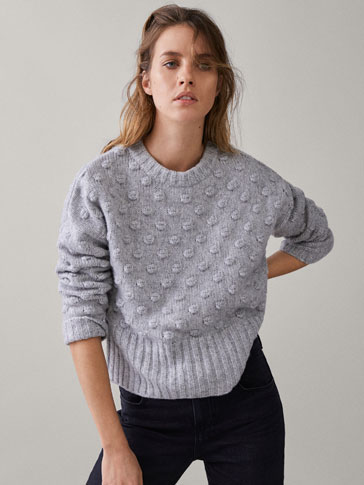 BUBBLE-TEXTURED SWEATER