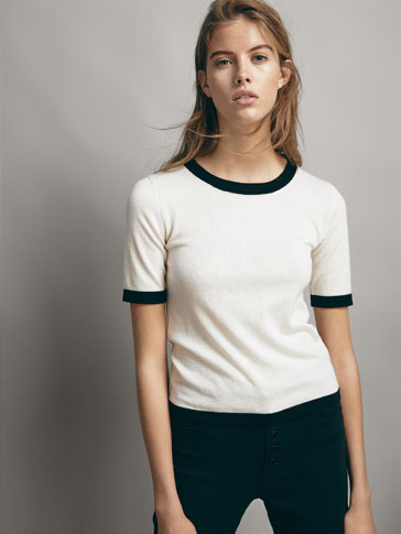 CONTRAST WOOL SWEATER
