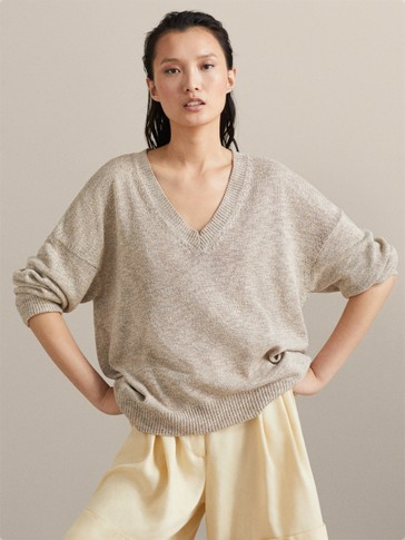 TEXTURED MOULINÉ SWEATER