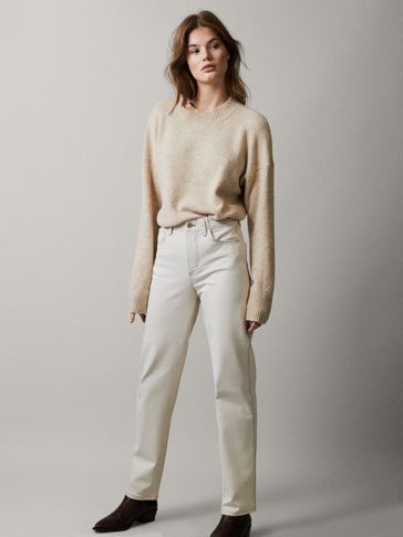 Oversized Wool Sweater by Massimo Dutti