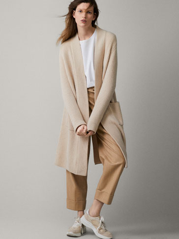 TEXTURED 100% CASHMERE COAT