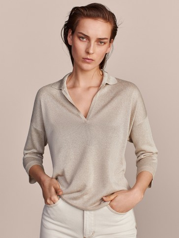 POLO SWEATER WITH OPENING