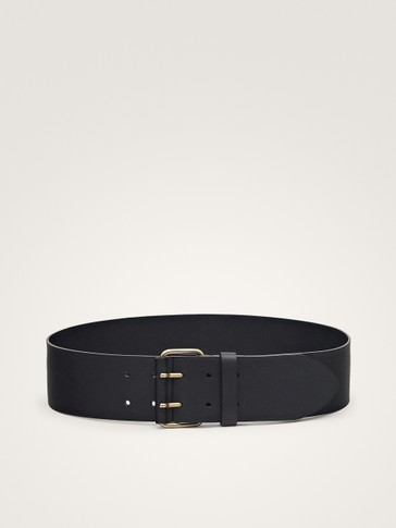 LIMITED EDITION DOUBLE-PRONG LEATHER BELT