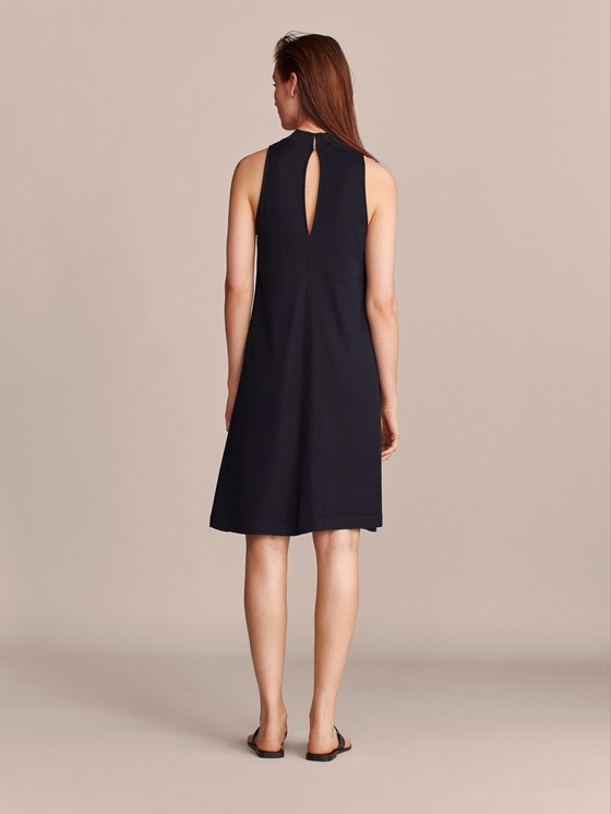 Massimo Dutti - TEXTURED NAVY DRESS - 2