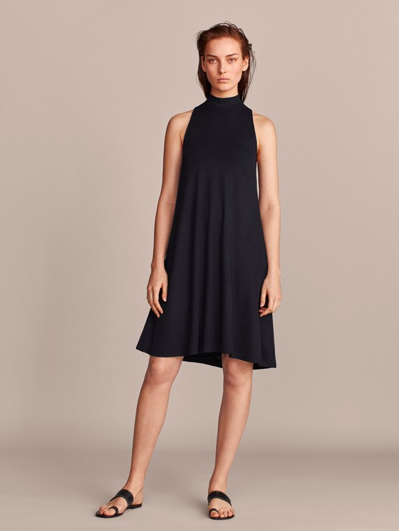 Massimo Dutti - TEXTURED NAVY DRESS - 6