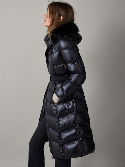 bb4cef83e LONG DOWN JACKET WITH BELT