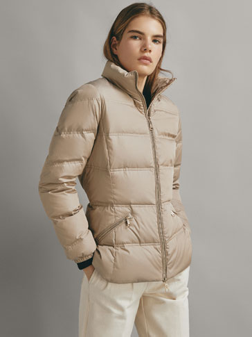 MIDWEIGHT DOWN JACKET WITH TOPSTITCHING