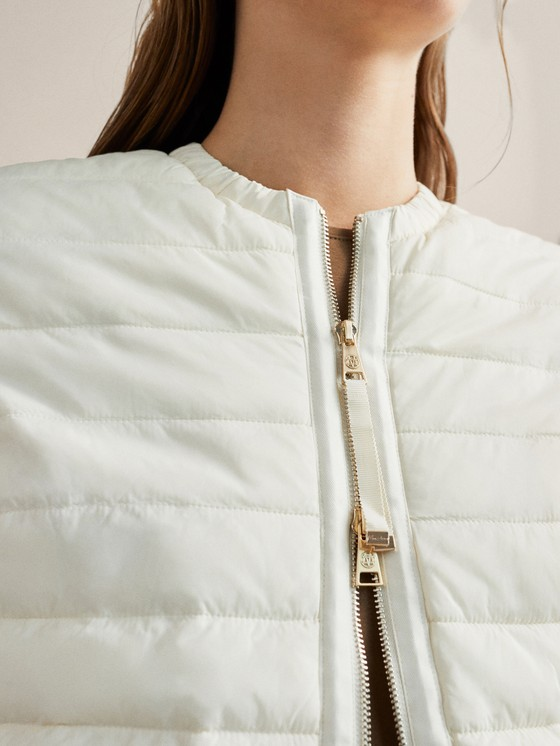 Massimo Dutti - QUILTED BOMBER JACKET WITH CONTRAST KNIT SLEEVES - 6