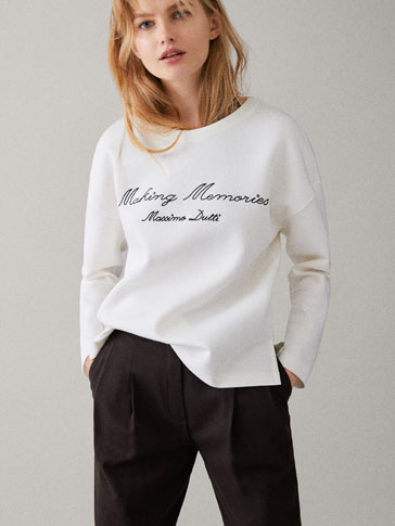 MEMORIES COTTON SWEATSHIRT