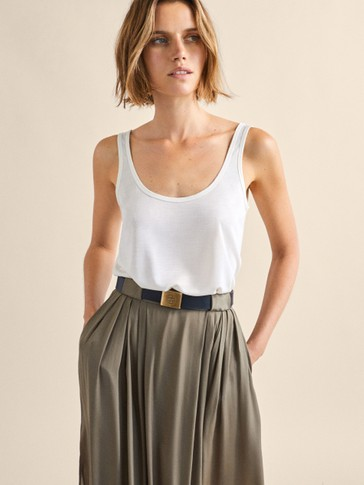 TEXTURED LYOCELL TOP