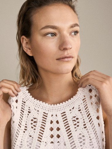 Top En Coton Au Crochet by Massimo Dutti