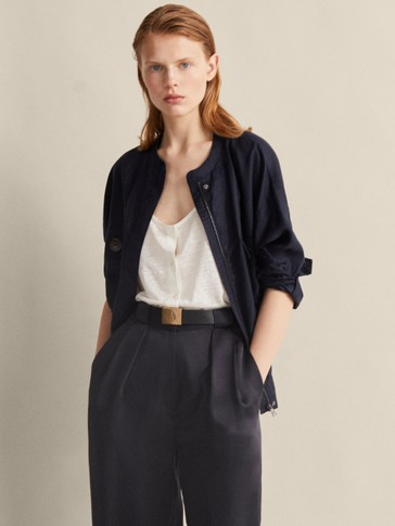 BUTTON-UP 100% LINEN TOP