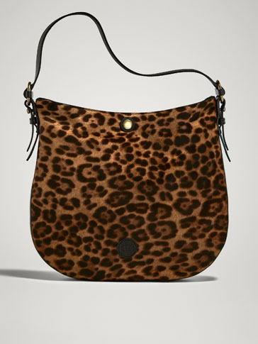 LEOPARD PRINT LEATHER BAG