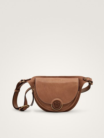 LEATHER BELT BAG WITH METAL DETAIL