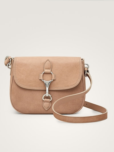 003a6d0294 LOBSTER CLASP LEATHER CROSSBODY BAG