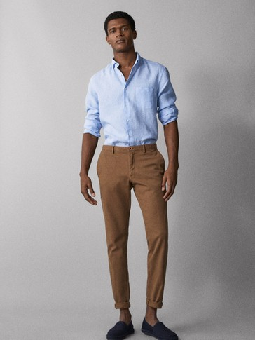 SLIM-FIT CHINOS MED STRUKTUR