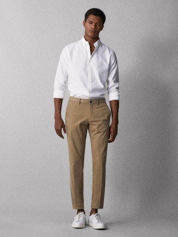 PANTALONI CHINO SLIM FIT DECOLORAȚI