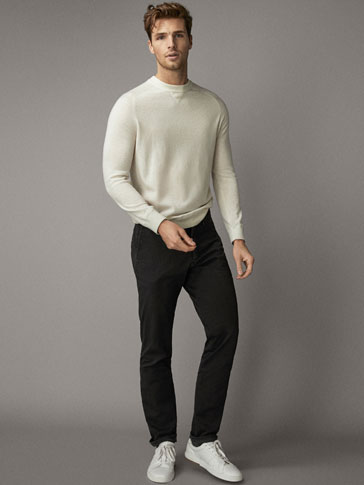 SLIM FIT FADED CHINO TROUSERS