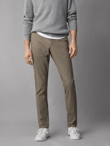 EXTRA SLIM FIT TEXTURED CHINOS