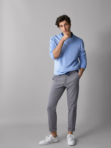 SLIM-FIT VEVD CHINOS MED STRUKTUR
