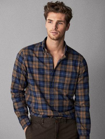Camisa Algodón Algodón Cuadros Fit Regular Fit Camisa Cuadros Algodón Camisa Regular dBrCxeo