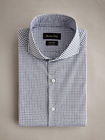 CHECK COTTON SLIM FIT EASY IRON SHIRT