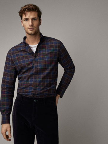 CHEMISE TWILL À CARREAUX SLIM FIT