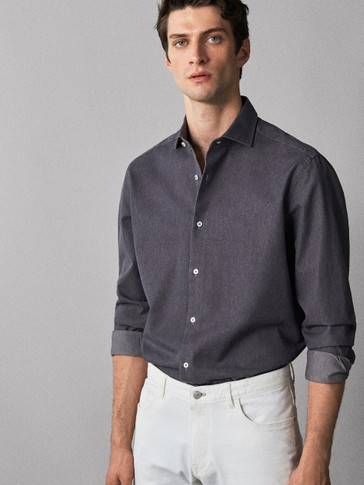 CAMICIA IN JEANS DI COTONE SLIM FIT