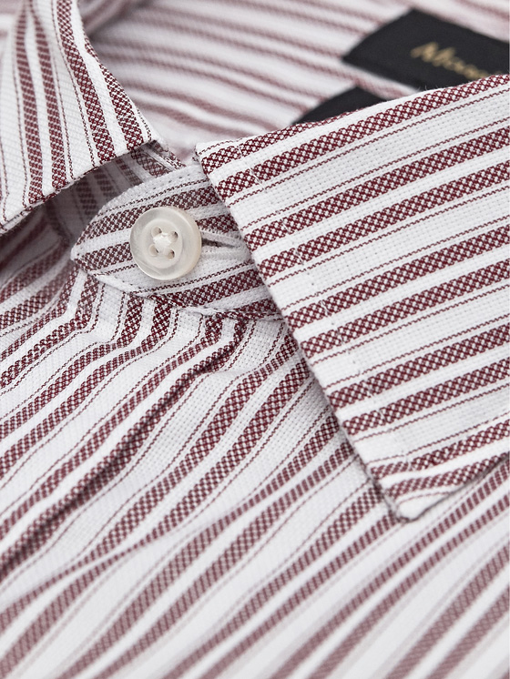 Massimo Dutti - SLIM FIT EASY IRON DOUBLE-STRIPE COTTON SHIRT - 2