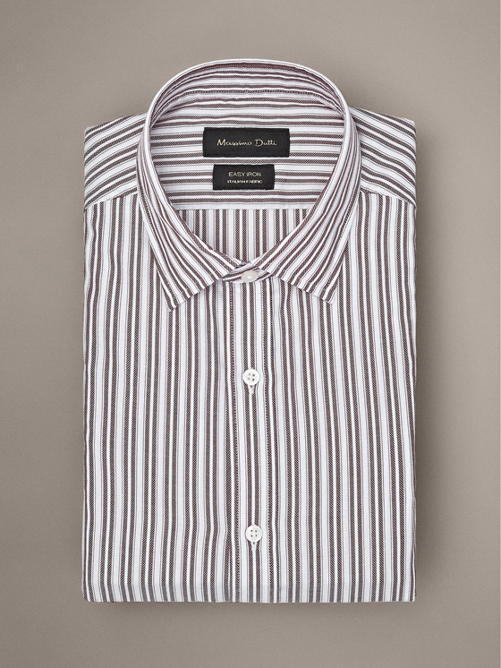 Massimo Dutti - SLIM FIT EASY IRON DOUBLE-STRIPE COTTON SHIRT - 3