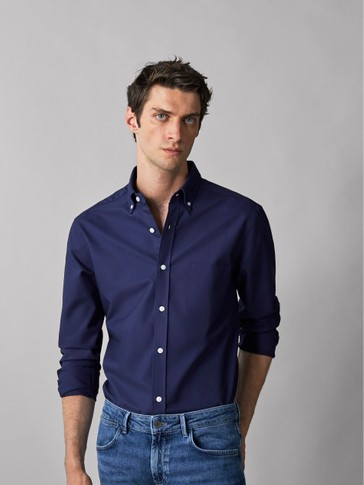 REGULAR FIT COTTON OXFORD SHIRT