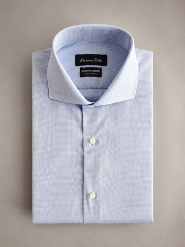 PERSONAL TAILORING SLIM FIT MICROCHECK COTTON SHIRT
