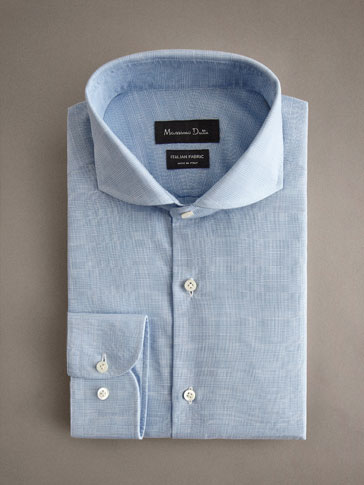 PERSONAL TAILORING SLIM FIT COTTON CHAMBRAY CHECK SHIRT