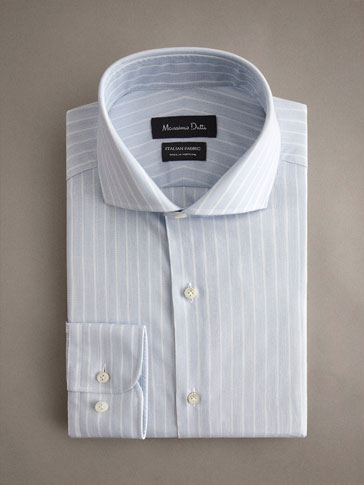 PERSONAL TAILORING TAILORED FIT COTTON STRIPED SHIRT