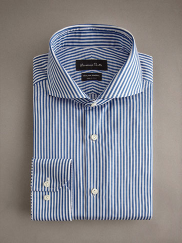PERSONAL TAILORING SLIM FIT STRIPED COTTON SHIRT