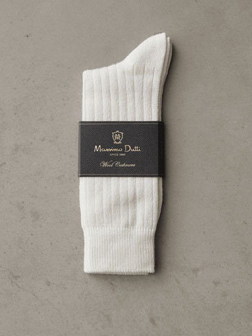 WINTER CAPSULE RIBBED WOOL SOCKS