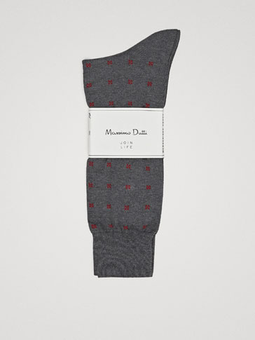 CHECK MERCERISED COTTON SOCKS