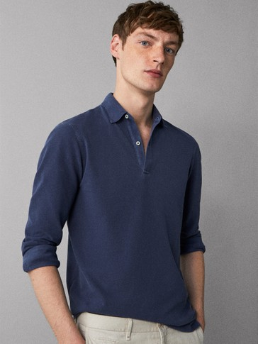 DYED COTTON POLO SHIRT