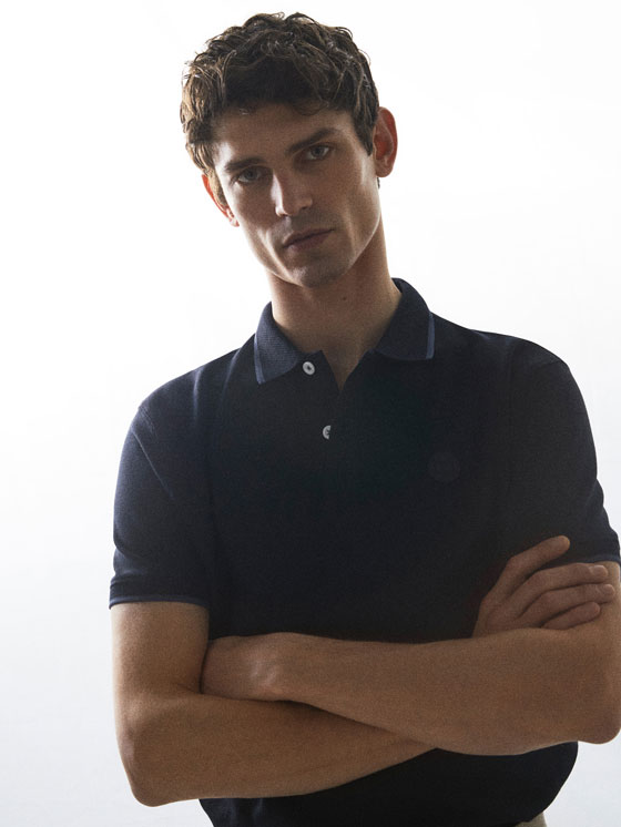 Massimo Dutti - COTTON POLO SHIRT WITH CONTRASTING COLLAR DETAIL - 6