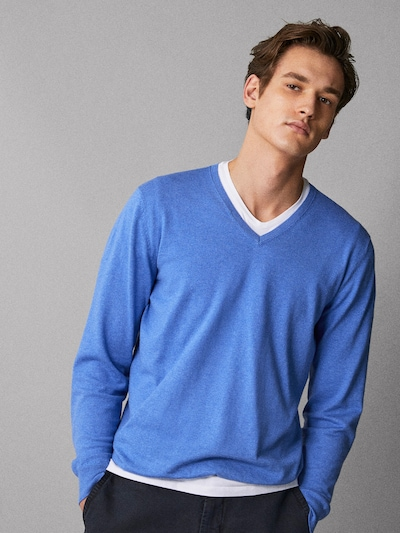 405c191d6 COTTON SILK SWEATER WITH ELBOW PATCHES - Men - Massimo Dutti
