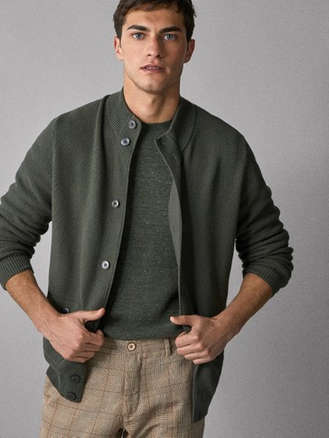 COTTON CARDIGAN WITH POCKETS