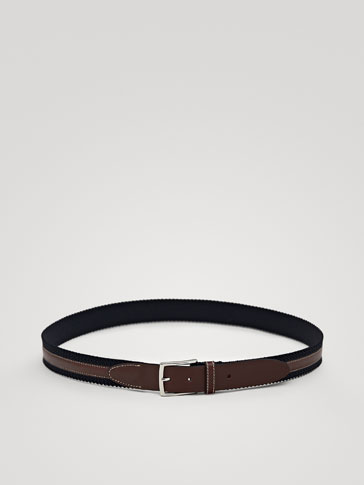 CONTRASTING LEATHER BELT
